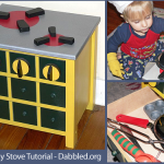 How to Make a cute Kids Stove (Upcycling Tutorial)