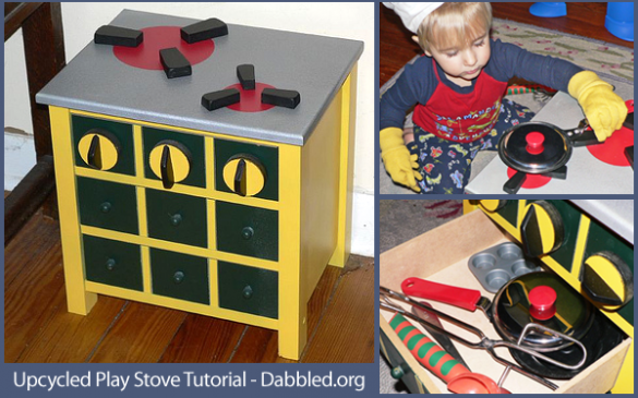 How to make an upcycled play stove