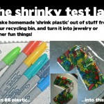 homemade shrinky plastic out of recycled materials
