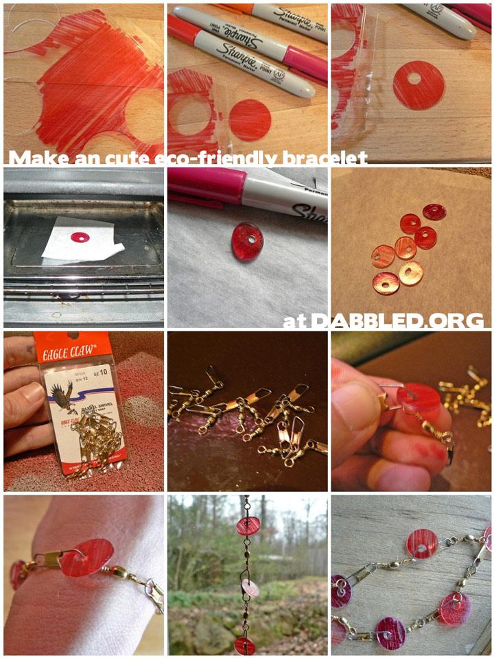 how to: bracelet: eco friendly shrinky bracelet