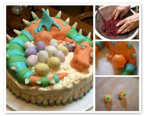 Tutorial homemade dragon cake dabbled