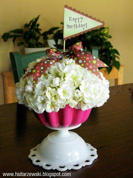 A Cupcake Flower Arrangement for Valentine's Day