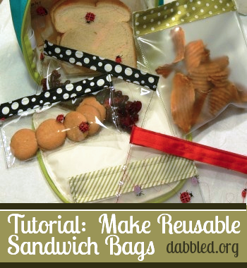 tutorial : Make reusable sandwich bags - dabbled.org