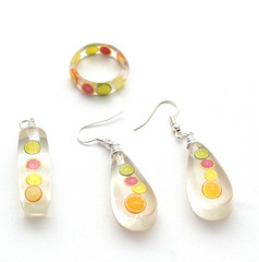 Citrus Jewelry by pennydogaccessories, from the Dabbled Flickr Group