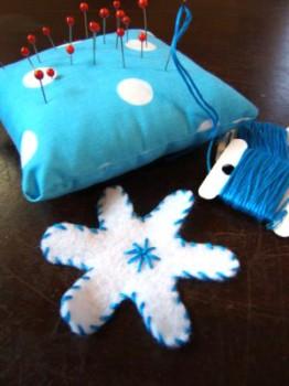 Homemade Snowflake Garland