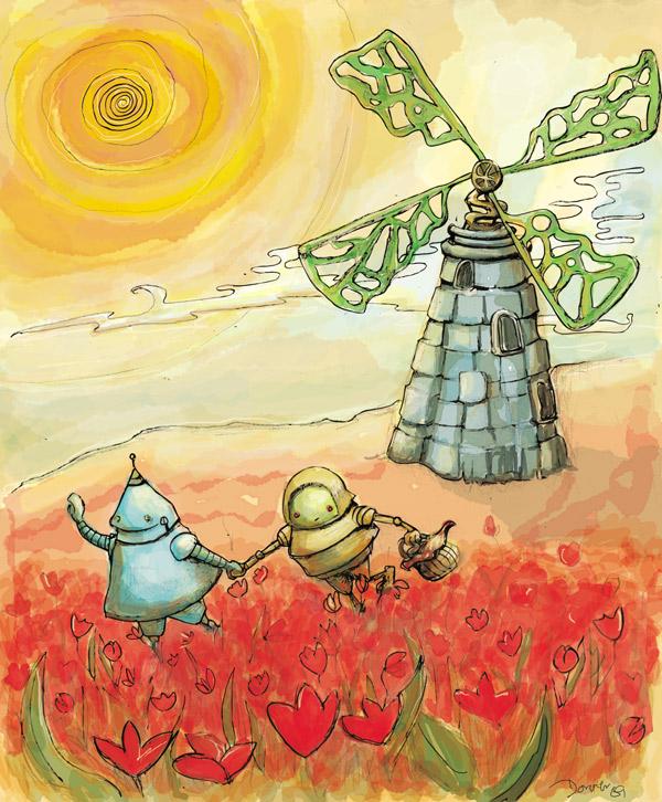 Windmill & robots