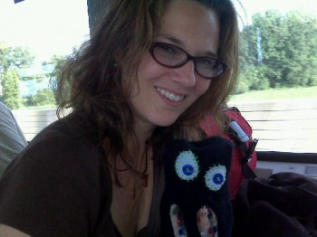 Me and Henri on the train to Vienna...