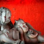 Halloween Decor: House Zombies and Creepy Cherubs!