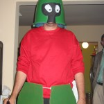 Marvin the Martian, build from cleaning supplies