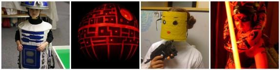 R2D2, Deathstar Pumpkin, Lego Leia, Darth Talon*