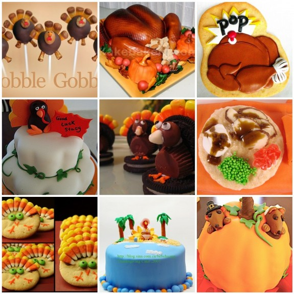 Turkey/thanksgiving sweets and cakes - from flickr