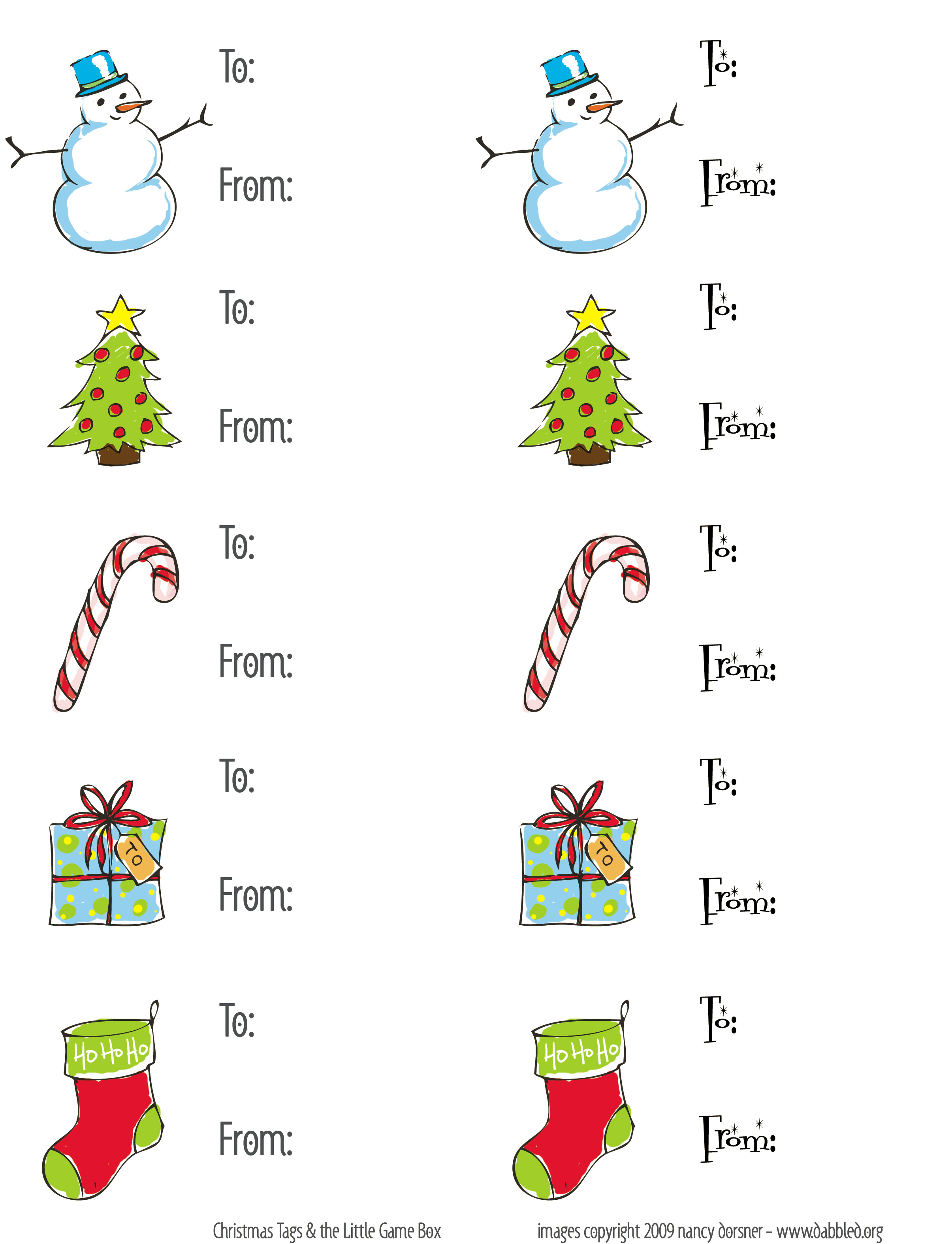 Dabbled download set of christmas gift tags gifttags negle Image collections