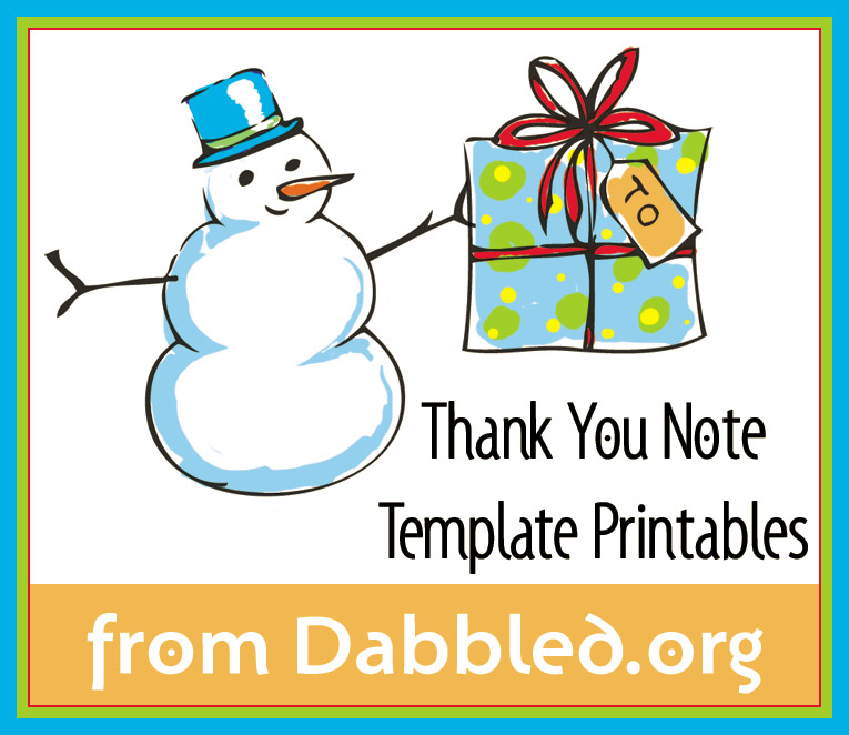 Dabbled – Printable Thank You Note