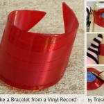 Tutorial:  Make a Bracelet from an old Record