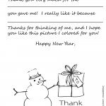 Black and White Version - Color your Own Snowman!