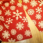A $4 Treeskirt from an 'After Christmas Sale' Tablecloth
