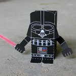darth vader papercraft - from toy-a-day