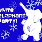 white elephant party invite