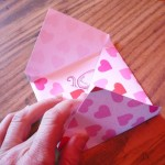 Fold up around the card