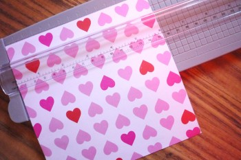 Measure out a square - For the mini cards, 6 inches works nicely.
