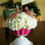 Faux Cupcake Flower Arrangement