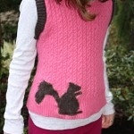 Sweater refashion Squirrel applique