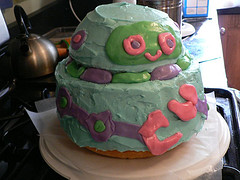 My first one - Robot cake (featured on MSNBC)