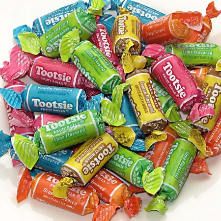 Multi-color tootsie rolls
