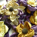 Make Fabric Flowers (and a flower wreath) for Mother's Day