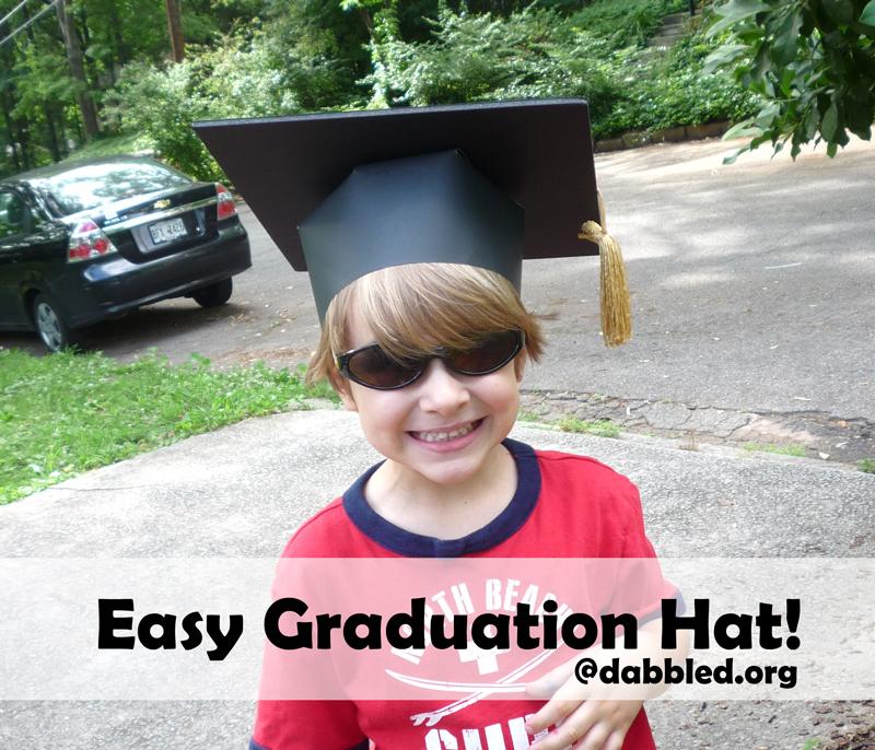 how to make a paper graduation cap dabbled