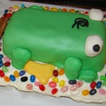 Perry the Platypus Cake, Part 2: Assembly