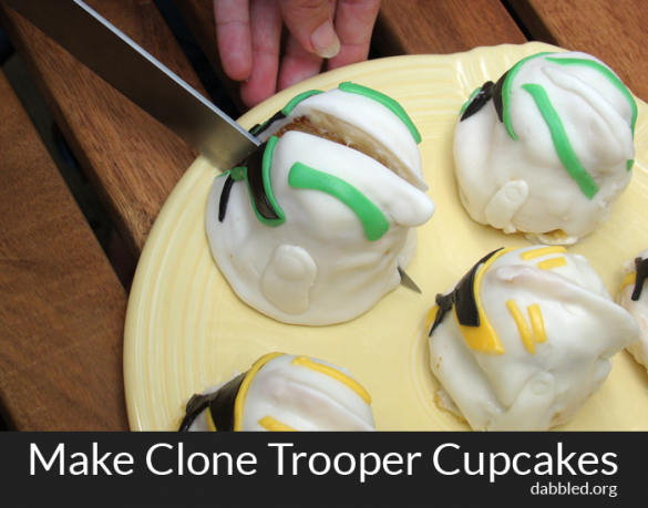 how to make clone trooper or stormtrooper star wars cupcake