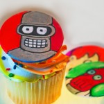 bender from futurama cupcakes