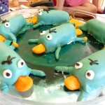 Perry the Platypus cakes, made from twinkies