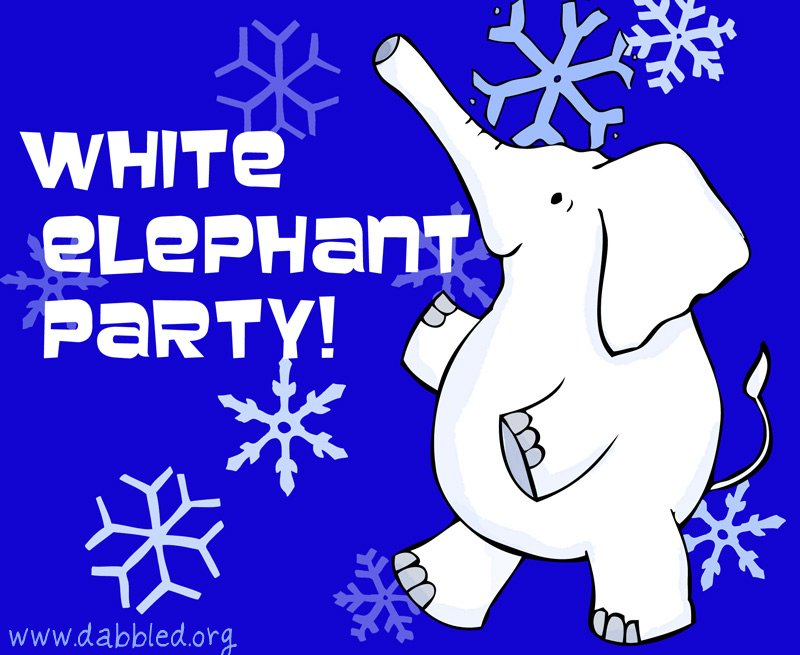 photo relating to White Elephant Rules Printable identify Rules for throwing a White Elephant vacation bash Dabbled