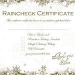 Santa Raincheck Certificate (free downloadable)