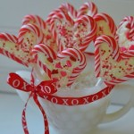 Valentines hearts from Candy Canes