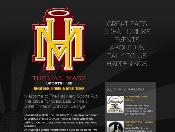 the new look for The Hail Mary Sports Pub