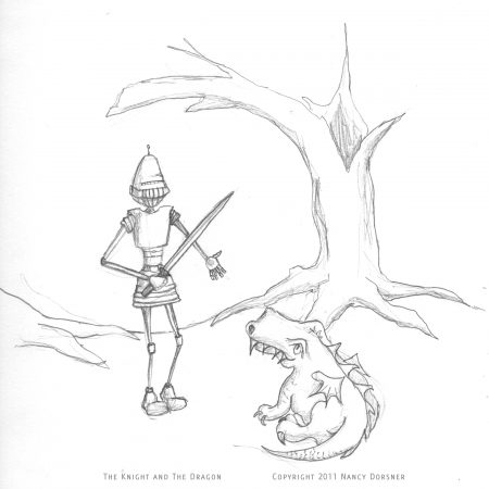 my art dabbled My Art Workshop sketch day knight and dragon