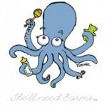 Octopus Baby Shower invitation - by nancy dorsner