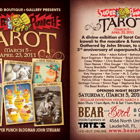 super punch tarot show flyer