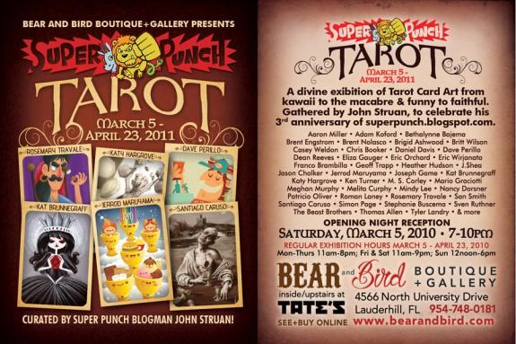 super punch tarot show flyer