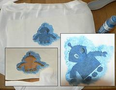 Process for Freezer Paper Stencil
