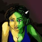 Colored sketch - Half-Beast