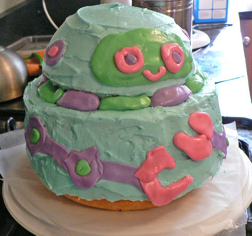 The completed Robot Cake