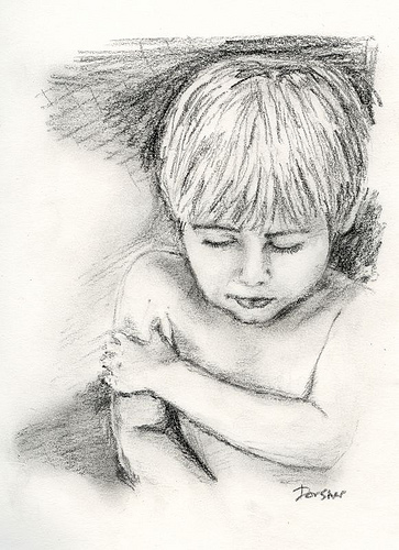 Charcoal sketch - The Boy
