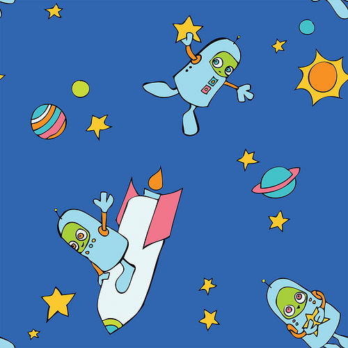 Spacerobot Fabric Design