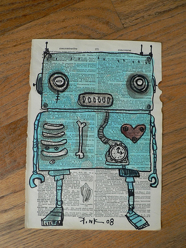 Watercolor Robot made for me by Gus Fink