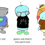 Art Day: Tell a Bot by his Tshirt..