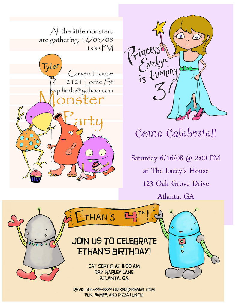 Party invitations dabbled sample party invitations stopboris Image collections